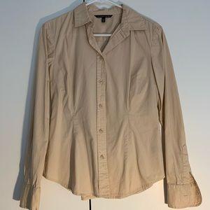 VS Curve Cotton Button Up Blouse